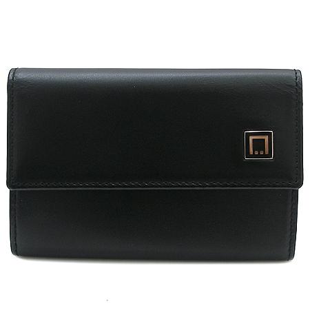 Dupont(듀퐁) 블랙 레더 지퍼 포켓 6키홀더 지갑
