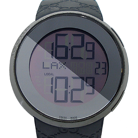 Gucci(구찌) Gucci(구찌) YA114207 I GUCCI 디지털 GG로고 러버밴드 남성용 시계 [압구정매장]