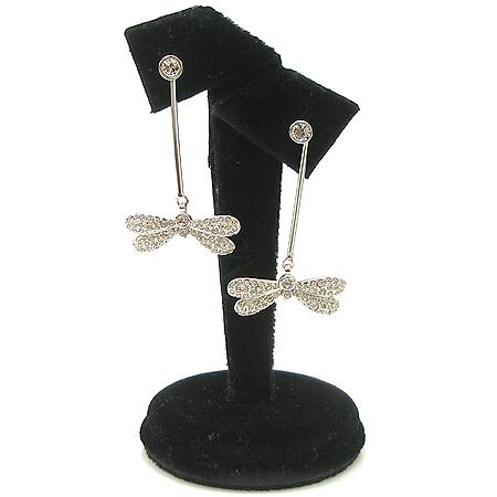 Swarovski(스와로브스키) 잠자리 장식 귀걸이