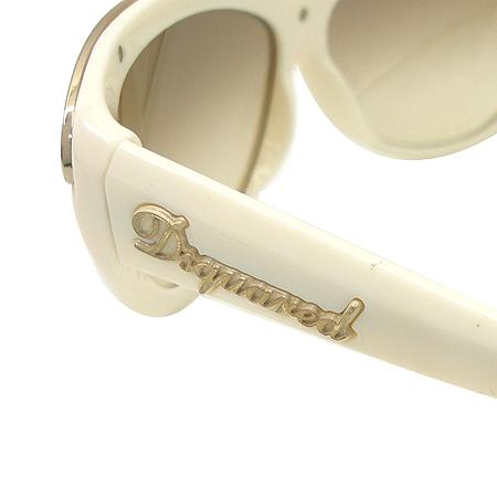 DSQUARED2 (디스퀘어드2) DQ0018 금장 메탈 장식 크림 컬러 뿔테 선글라스 이미지5 - 고이비토 중고명품