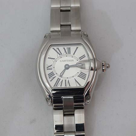 Cartier(까르띠에) W62016V3 로드스터 S사이즈 스틸 여성용 시계 + 교체형 DD클립 새틴 밴드