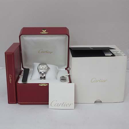 Cartier(까르띠에) W62016V3 로드스터 S사이즈 스틸 여성용 시계 + 교체형 DD클립 새틴 밴드 이미지2 - 고이비토 중고명품
