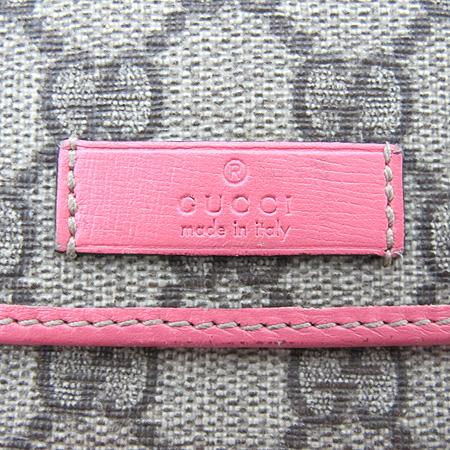 Gucci(구찌) 190331 핑크 레더 트리밍 GG로고 PVC 중지갑