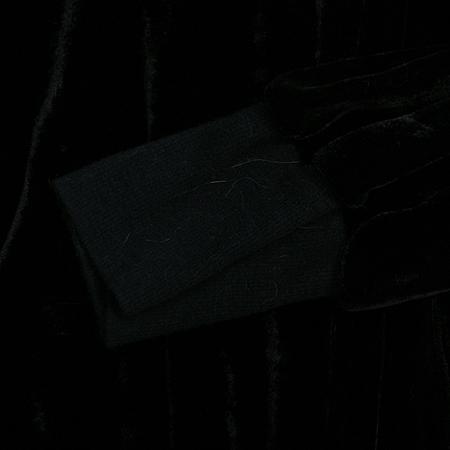 COSTOM NATIONAL(커스텀 내셔널) 실크혼방 벨벳집업 가디건
