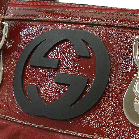 Gucci(구찌) GG로고 레드 래더 에나멜 트리밍 스퀘어 토트백 이미지4 - 고이비토 중고명품