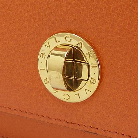 Bvlgari(불가리) 금장 로고 장식 오렌지 컬러 레더 숄더백