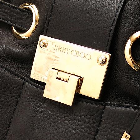 JIMMY CHOO(지미추) 블랙 레더 금장 로고 장식 라모나 숄더백