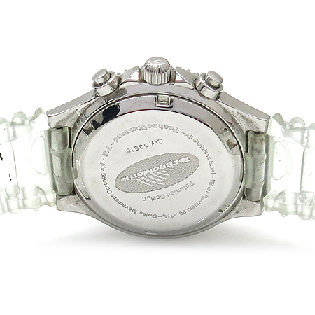 TechnoMarine (테크노마린) 크로노그래프 자개판 블랙 사파이어 베젤 여성용 시계