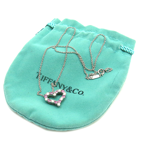 Tiffany(티파니) 7포인트 다이아 핑크사파이어 S사이즈 HEART PENDANT(하트 팬던트) 목걸이 [강남본점] 이미지2 - 고이비토 중고명품