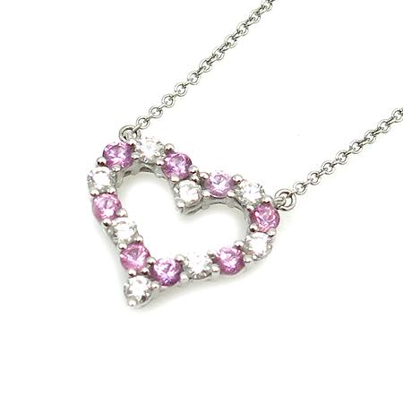 Tiffany(티파니) 7포인트 다이아 핑크사파이어 S사이즈 HEART PENDANT(하트 팬던트) 목걸이