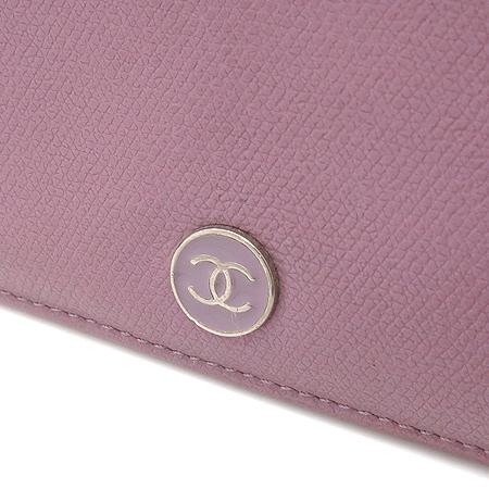 Chanel(샤넬) 바이올렛 컬러 COCO로고 캐비어 스킨 장지갑