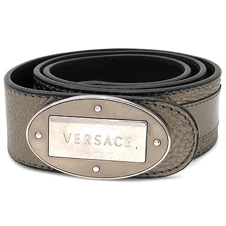 Versace(베르사체) 은장 로고장식 메탈릭 여성용 벨트
