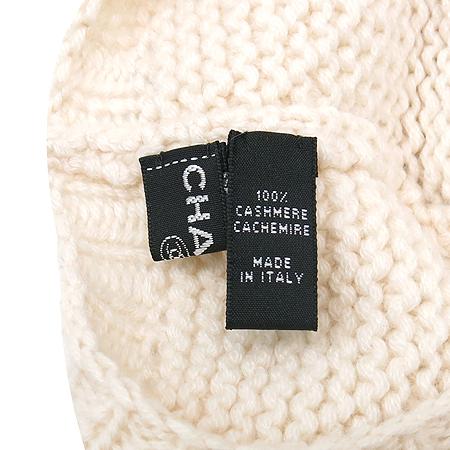 Chanel(샤넬) 아이보리 컬러 100% 캐시미어 머플러 + 모자 세트
