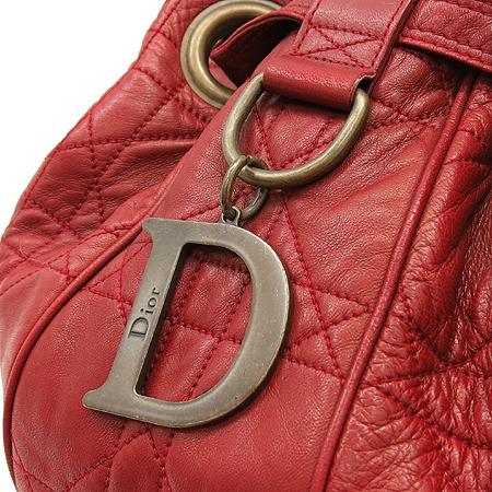 Dior(크리스챤디올) D로고 장식 카나쥬 퀼팅 레더 숄더백
