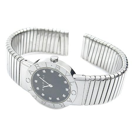 Bvlgari(불가리) BB262TS 12P 다이아 뱅글 팔찌형 스틸 여성용 시계