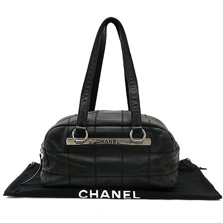 Chanel(샤넬) 캐비어스킨 마트라세(MATLASSE) 볼링 토트백 이미지2 - 고이비토 중고명품