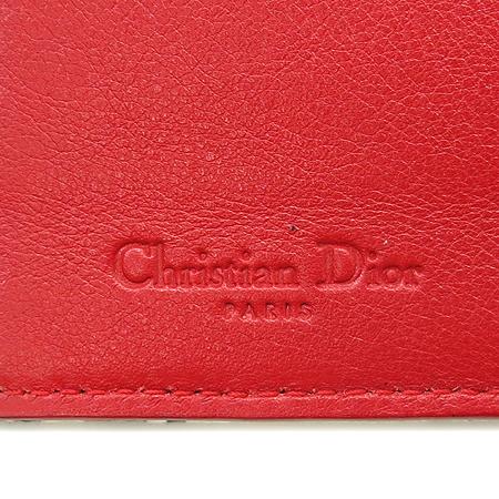 Dior(크리스챤디올) 하드코어 라인 패브릭 은장 스타 로고 장식 3단 중지갑
