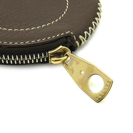 Celine(셀린느) 금장 로고 장식 짚업 동전지갑