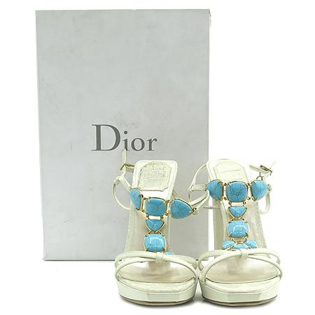 Dior(크리스챤디올) 스카이 블루 스톤 장식 여성용 하이힐 샌들 [강남본점] 이미지2 - 고이비토 중고명품