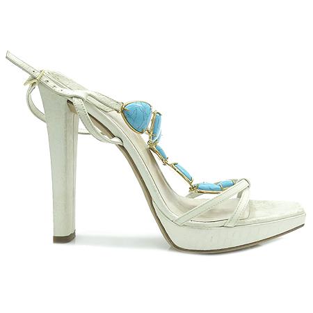 Dior(크리스챤디올) 스카이 블루 스톤 장식 여성용 하이힐 샌들 [강남본점] 이미지4 - 고이비토 중고명품