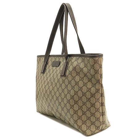 Gucci(구찌)  211137 GG 로고 PVC 쇼퍼 숄더백 이미지2 - 고이비토 중고명품