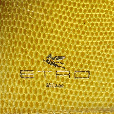 Etro(에트로) 페이즐리 패턴 옐로우 레더 트리밍 페가수스 장식 중지갑