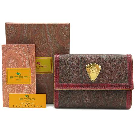 Etro(에트로) 13870 페이즐리 패턴 금장 로고 장식 중지갑 [강남본점] 이미지2 - 고이비토 중고명품