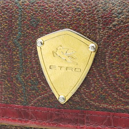 Etro(에트로) 13870 페이즐리 패턴 금장 로고 장식 중지갑 [강남본점] 이미지3 - 고이비토 중고명품