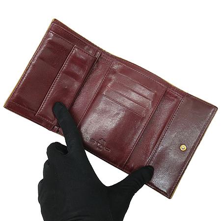 Etro(에트로) 13870 페이즐리 패턴 금장 로고 장식 중지갑 [강남본점] 이미지4 - 고이비토 중고명품