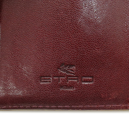 Etro(에트로) 13870 페이즐리 패턴 금장 로고 장식 중지갑