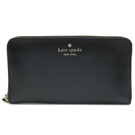 KATE SPADE(케이트스페이드) 블랙 레더 짚업 장지갑 [부천현대점]