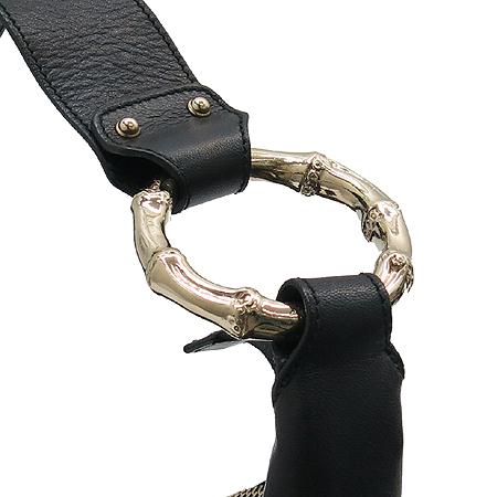 Gucci(구찌) 248274 GG 로고 시마 래더 금장 뱀부 장식 숄더백