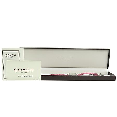 Coach(코치) 0217 시그니처 가죽밴드 여성용 시계