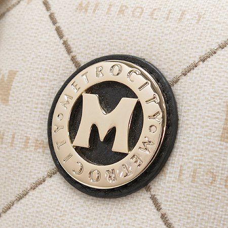 Metrocity(메트로시티) 금장 퀼팅 로고 보스톤 토트백