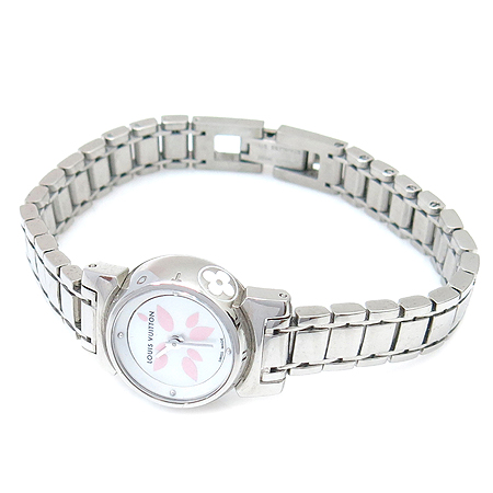 Louis Vuitton(루이비통) Q15121 땅부르 비쥬 페탈 스틸 브레이슬릿 여성용 시계