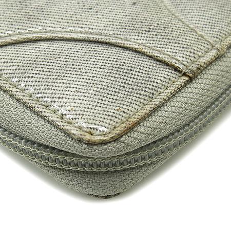 Dior(크리스챤디올) 그레이 에나멜 짚업 반지갑