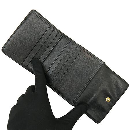 Celine(셀린느) 블랙 블라종 로고 반지갑