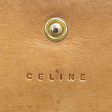 Celine(셀린느) 오렌지 레더 블라종 로고 장지갑 이미지3 - 고이비토 중고명품