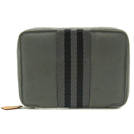 Hermes(에르메스) 그레이 패브릭 짚업 다용도 지갑