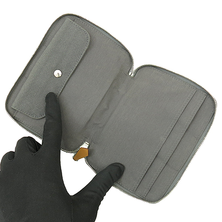 Hermes(에르메스) 그레이 패브릭 짚업 다용도 지갑 이미지3 - 고이비토 중고명품