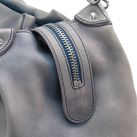 Chanel(샤넬) 램스킨 빅 로고 은장 체인 빅 숄더백 + 보조 파우치