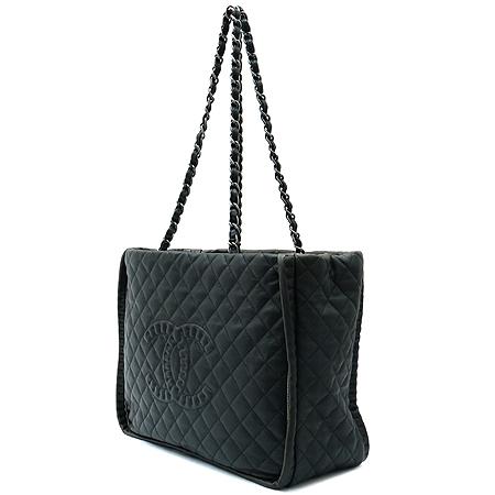Chanel(샤넬) COCO 로고 퀼팅 스퀘어 은장 체인 쇼퍼백 [부산본점]