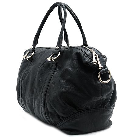 Gucci(구찌) 189892 블랙 레더 볼링 숄더백