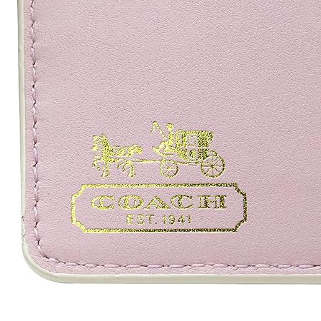 Coach(코치) 옵아트 로고 패턴 중지갑