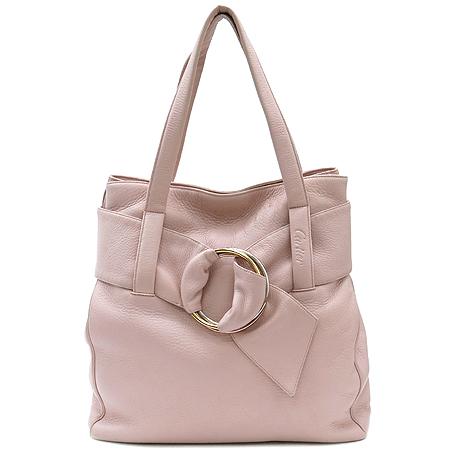 Cartier(까르띠에) 트리니티 장식 핑크 레더 토트백 [강남본점]