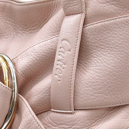 Cartier(까르띠에) 트리니티 장식 핑크 레더 토트백
