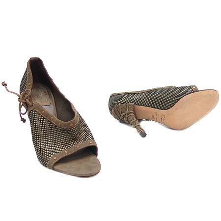 Dior(크리스챤디올) 빈티지 골드 메탈릭 장식 오픈토어 여성 구두 [강남본점] 이미지2 - 고이비토 중고명품