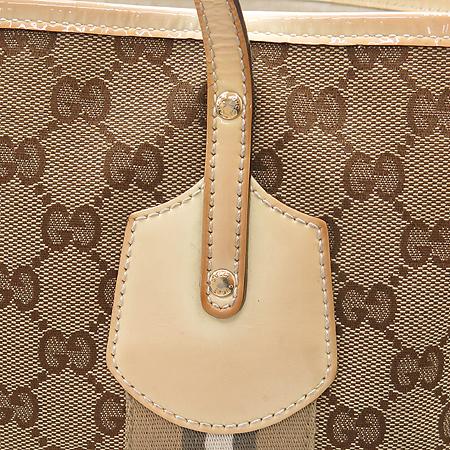 Gucci(구찌) 211970 GG 로고 자가드 삼색 스티치 숄더백