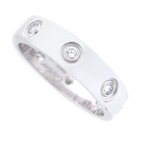 Cartier(까르띠에) B4050600 18K 화이트 골드 8포인트 다이아 미니 러브링 반지