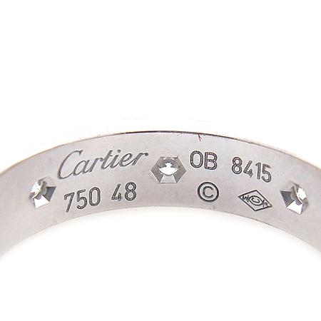 Cartier(까르띠에) B4050600 18K 화이트 골드 8포인트 다이아 미니 러브링 반지 이미지3 - 고이비토 중고명품
